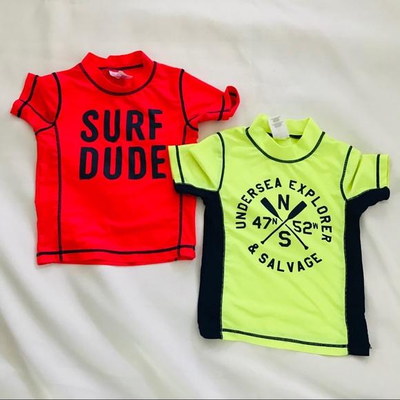68d95e25ae Carter's Swim   Carters Boys Girls Rash Guard Shirts Sun 3t Bundle ...